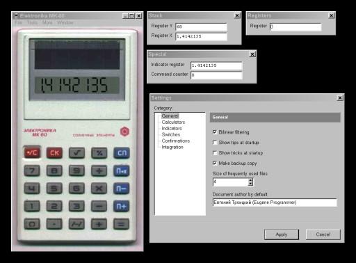 «Калькуляторы 3000» - эмулятор\симулятор почти всех ПМК и микрокалькуляторов СССР, таких как Б3-34, МК-61, МК-52 и других. Большое количество встроенных программ.